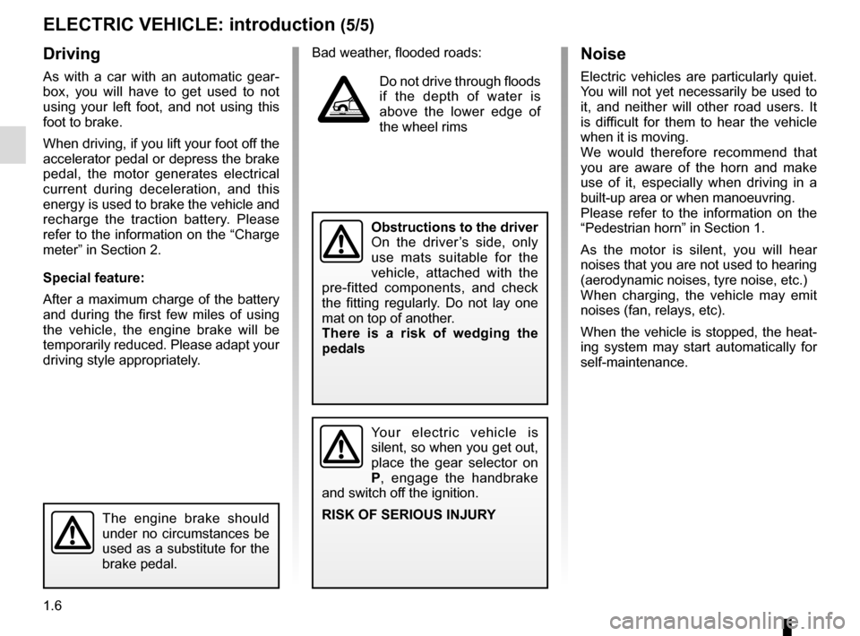 RENAULT ZOE 2016 1.G Owners Manual, Page 12
