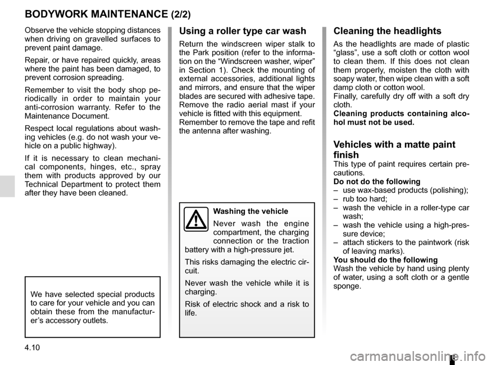 RENAULT ZOE 2016 1.G Owners Manual, Page 162