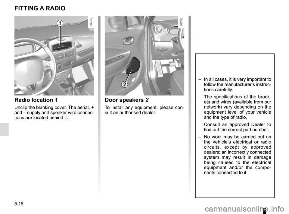 RENAULT ZOE 2016 1.G Owners Manual, Page 180