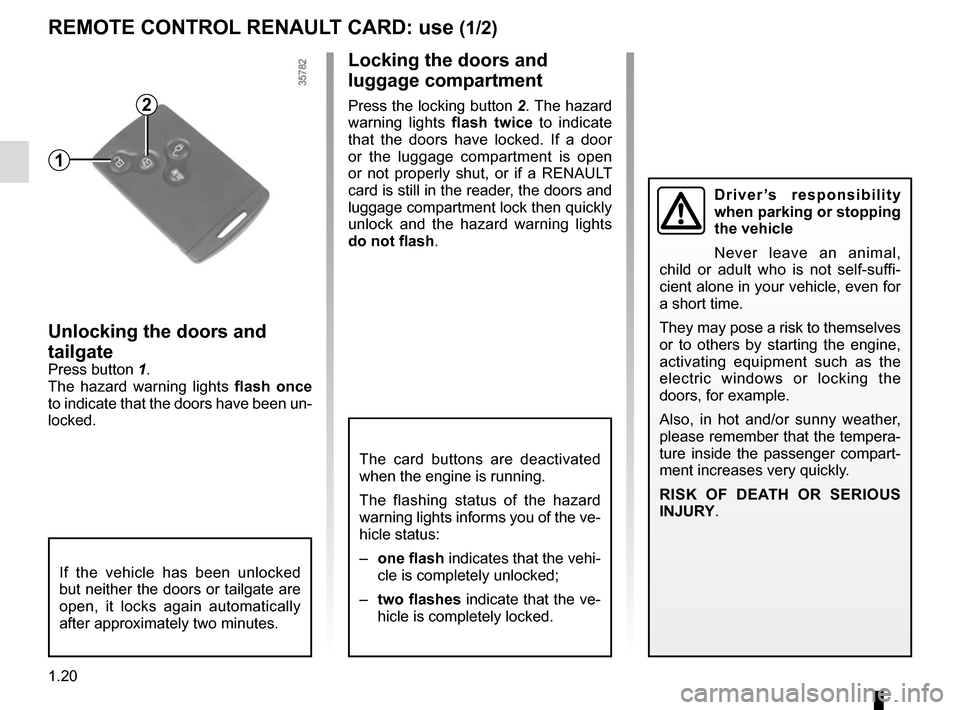 RENAULT ZOE 2016 1.G Owners Manual, Page 26