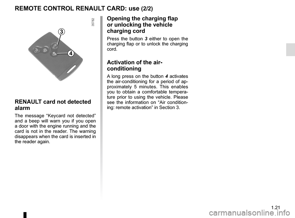 RENAULT ZOE 2016 1.G Owners Manual, Page 27