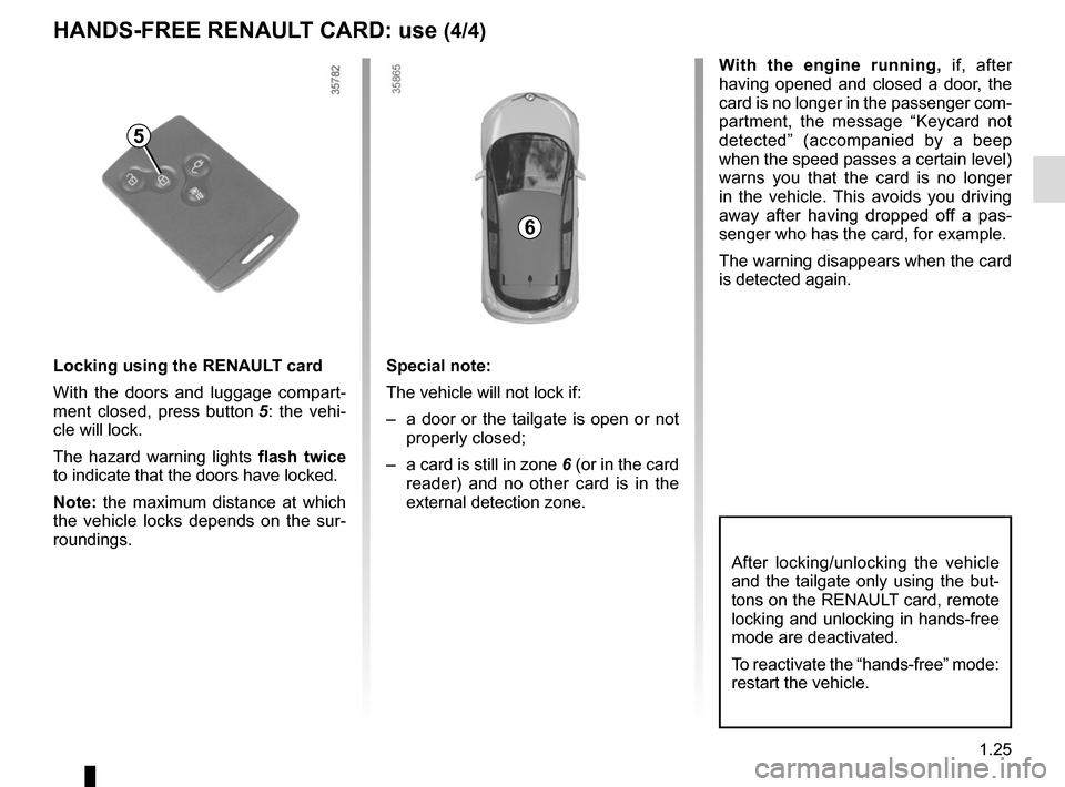 RENAULT ZOE 2016 1.G Owners Manual, Page 31
