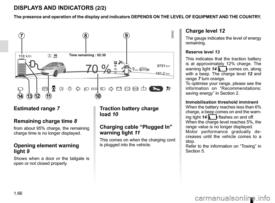 RENAULT ZOE 2016 1.G Owners Manual, Page 72