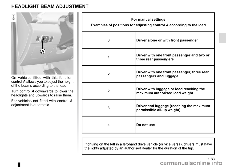 RENAULT ZOE 2016 1.G Owners Manual, Page 89