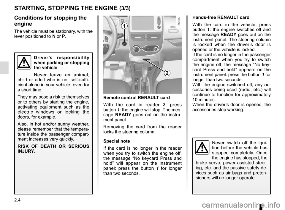 RENAULT ZOE 2016 1.G Owners Manual, Page 96