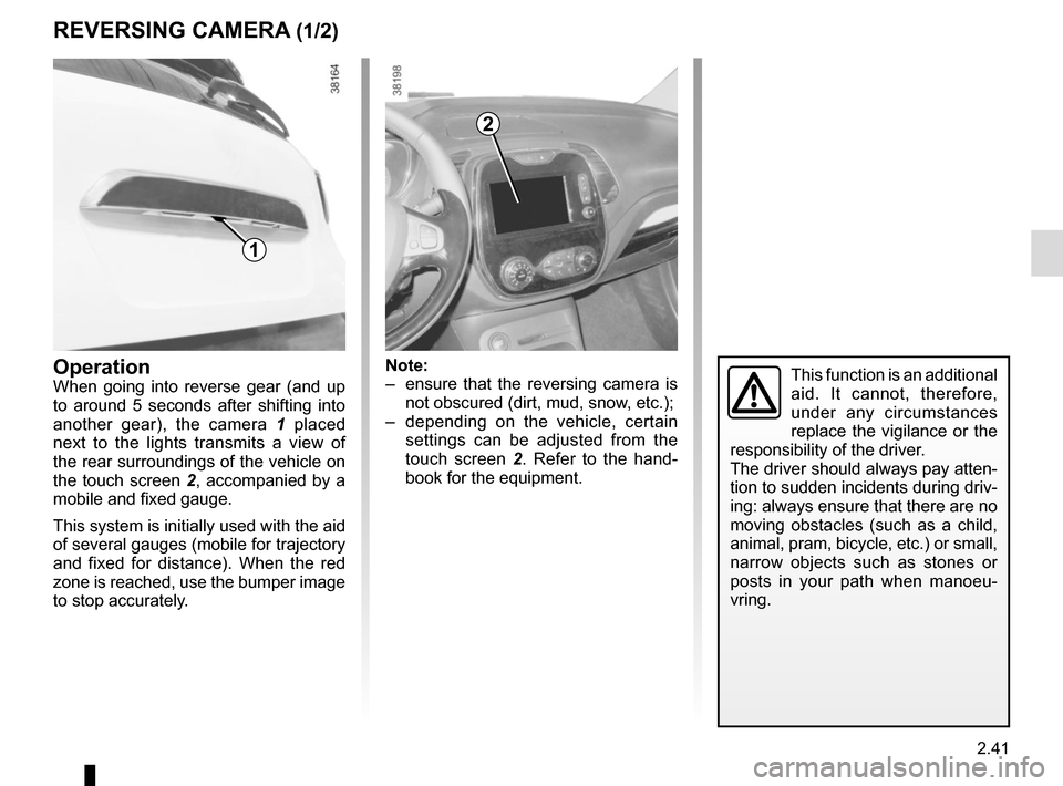 RENAULT CAPTUR 2017 1.G Owners Manual, Page 123