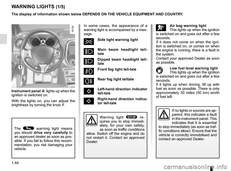 RENAULT CAPTUR 2017 1.G Owners Manual, Page 50