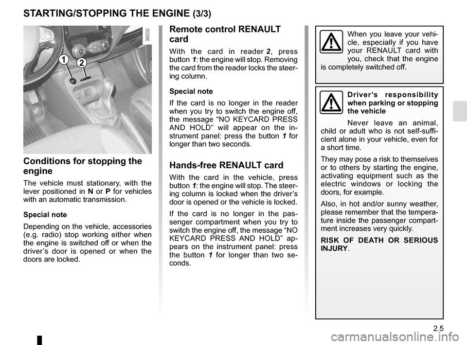 RENAULT CAPTUR 2017 1.G Owners Manual, Page 87