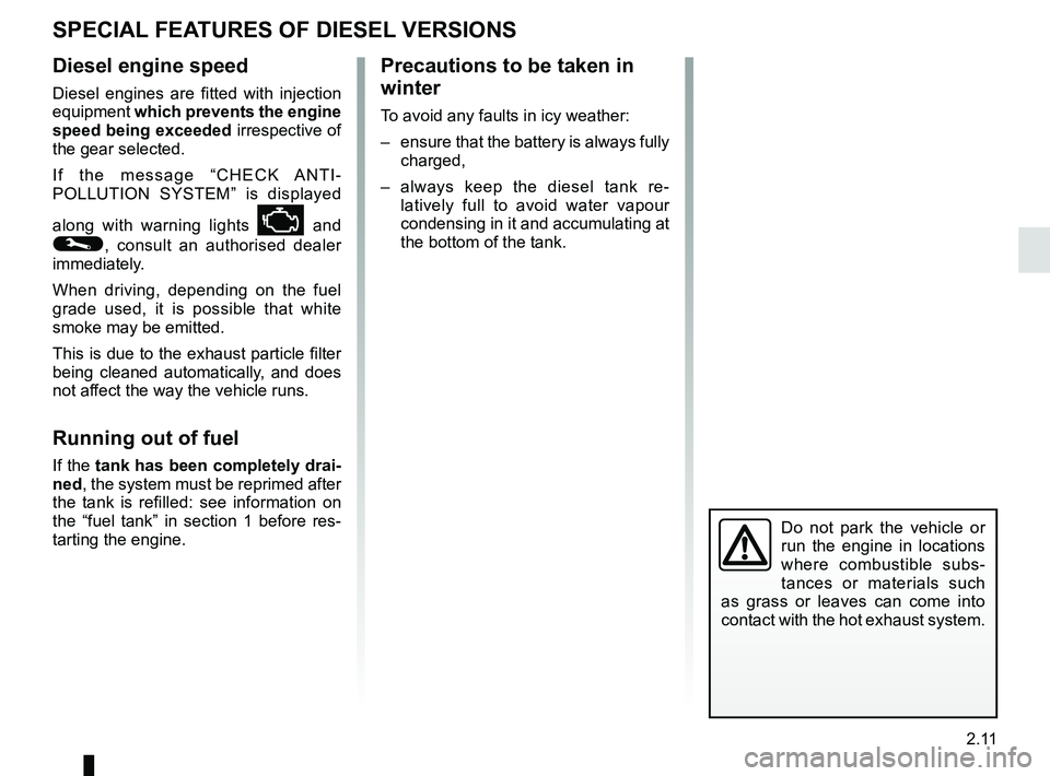 RENAULT CLIO 2017 X98 / 4.G Owners Manual, Page 105