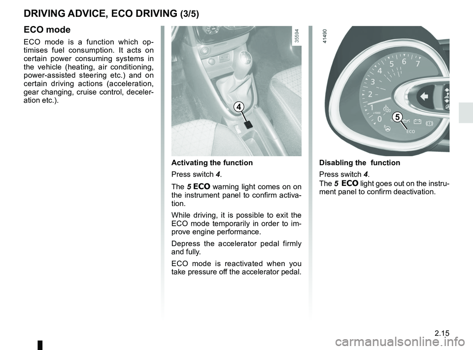 RENAULT CLIO 2017 X98 / 4.G Owners Manual, Page 109