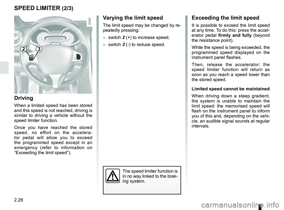 RENAULT CLIO 2017 X98 / 4.G Owners Manual, Page 122