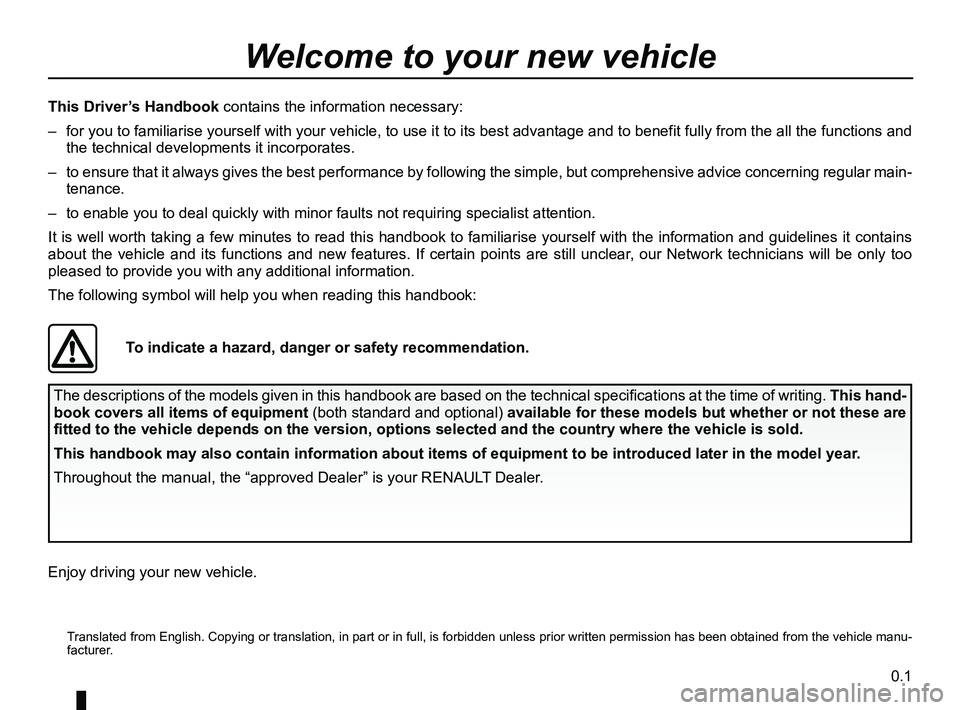 RENAULT CLIO 2017 X98 / 4.G Owners Manual, Page 3