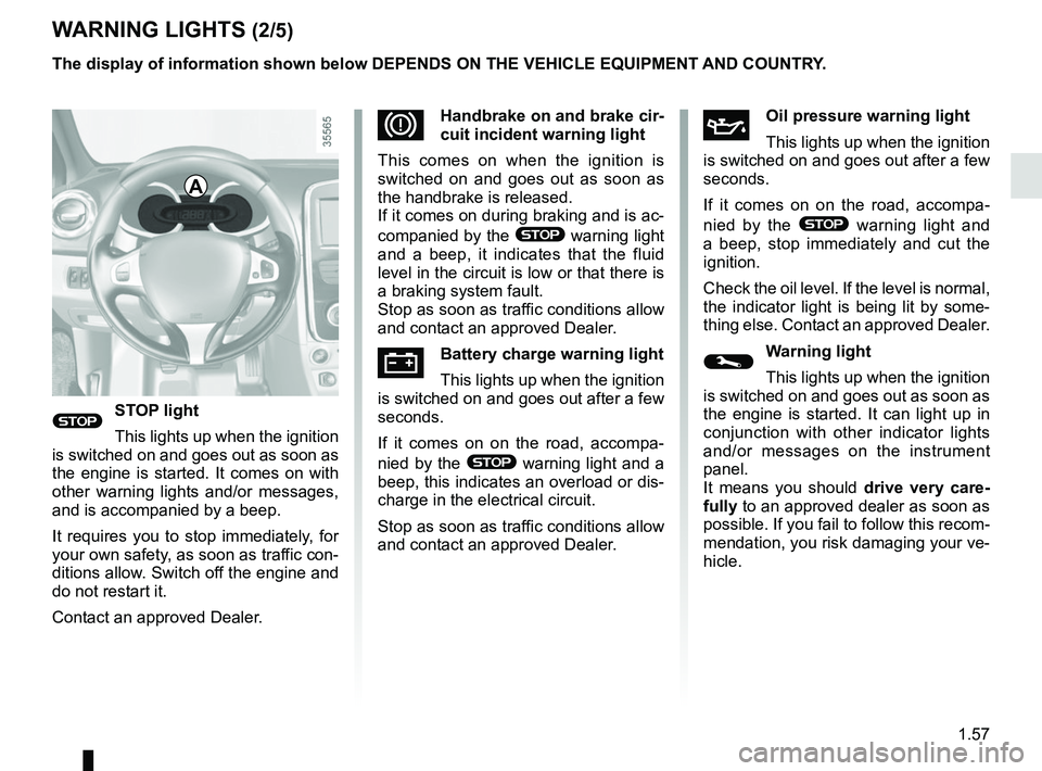 RENAULT CLIO 2017 X98 / 4.G Owners Manual, Page 63