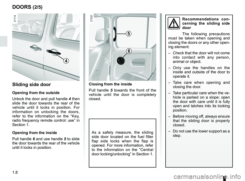 RENAULT KANGOO 2017 X61 / 2.G Owners Manual, Page 14