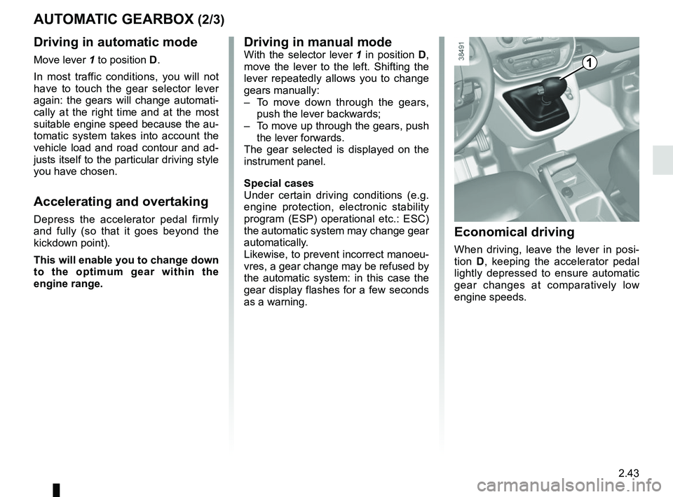 RENAULT KANGOO 2017 X61 / 2.G Owners Manual, Page 135