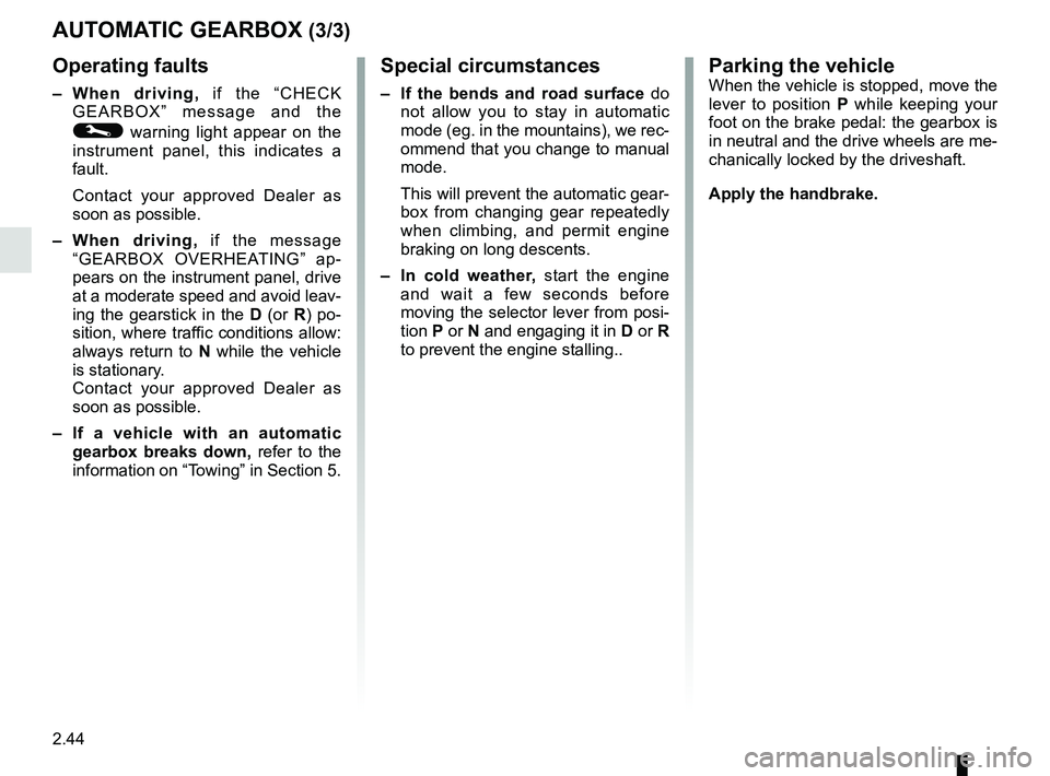 RENAULT KANGOO 2017 X61 / 2.G Owners Manual, Page 136