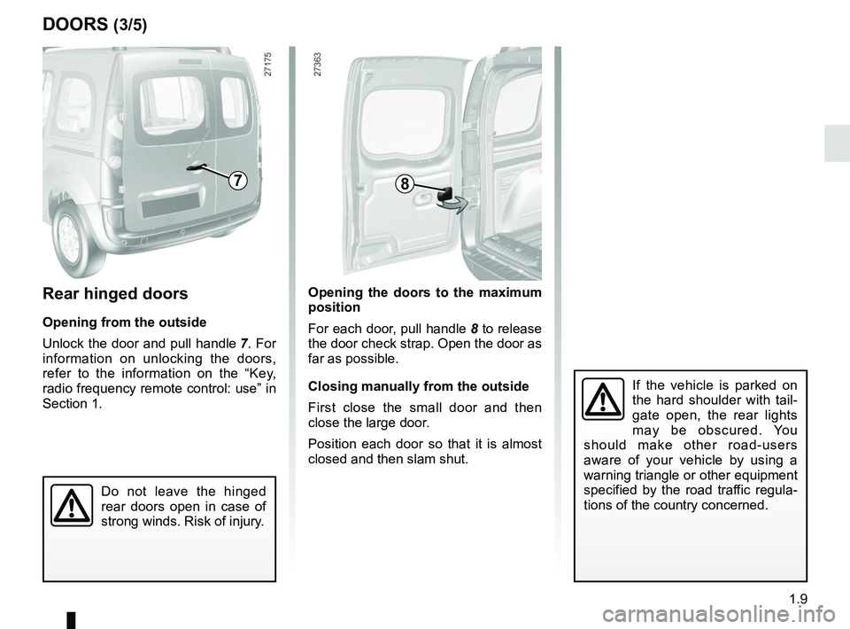 RENAULT KANGOO 2017 X61 / 2.G Owners Manual, Page 15