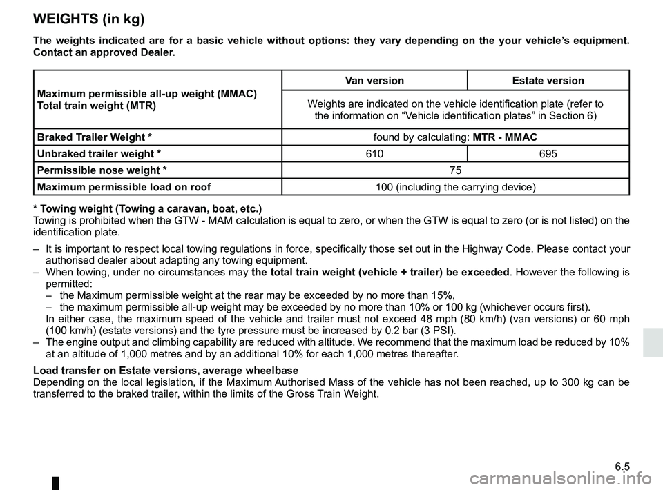 RENAULT KANGOO 2017 X61 / 2.G Owners Manual, Page 237