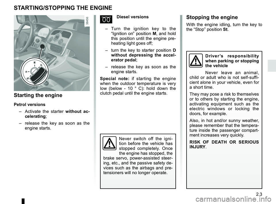 RENAULT KANGOO 2017 X61 / 2.G Owners Manual, Page 95
