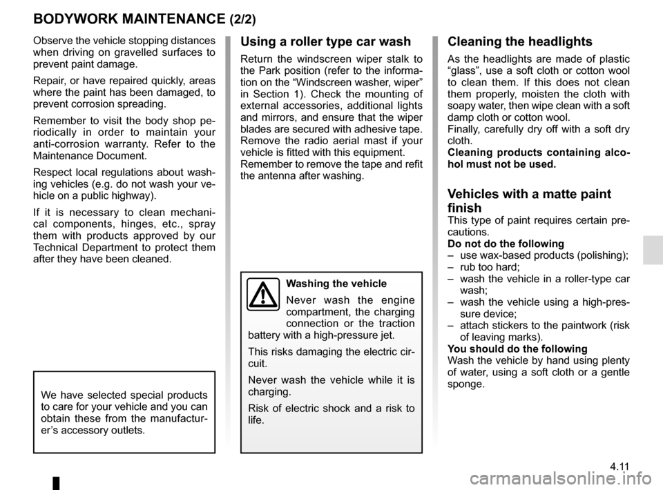 RENAULT KANGOO VAN ZERO EMISSION 2017 X61 / 2.G Owners Manual, Page 165