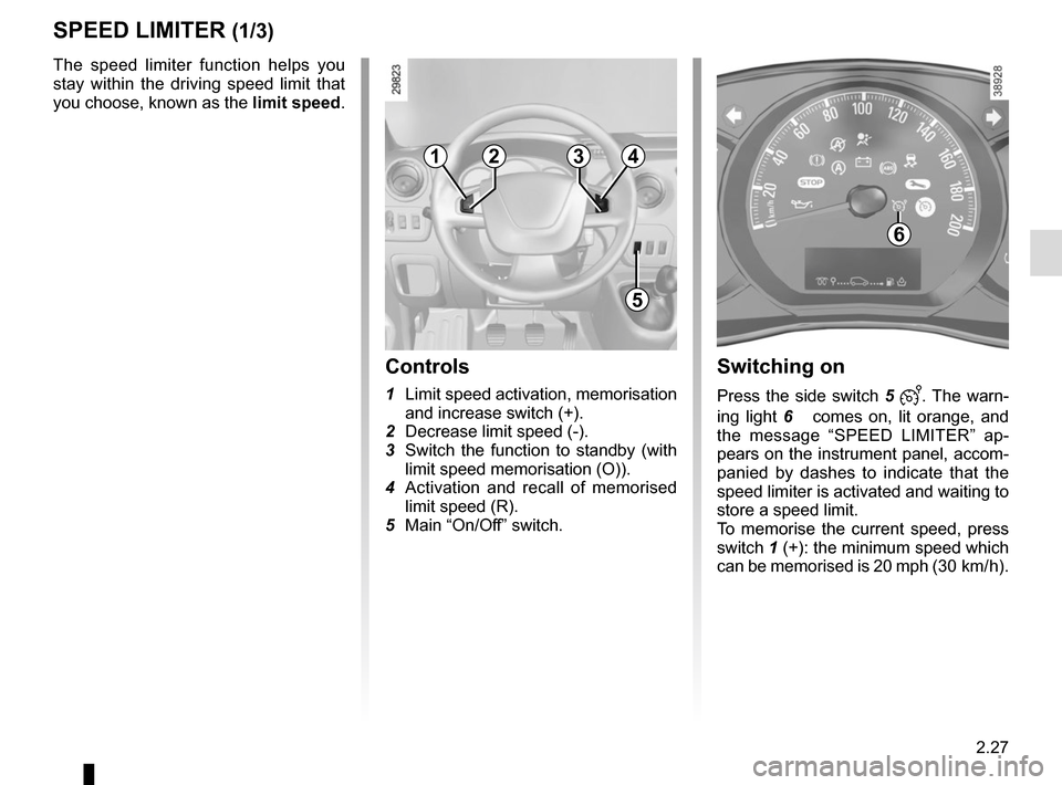 RENAULT MASTER 2017 X62 / 2.G Owners Manual, Page 141