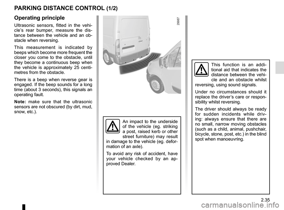 RENAULT MASTER 2017 X62 / 2.G Owners Manual, Page 149