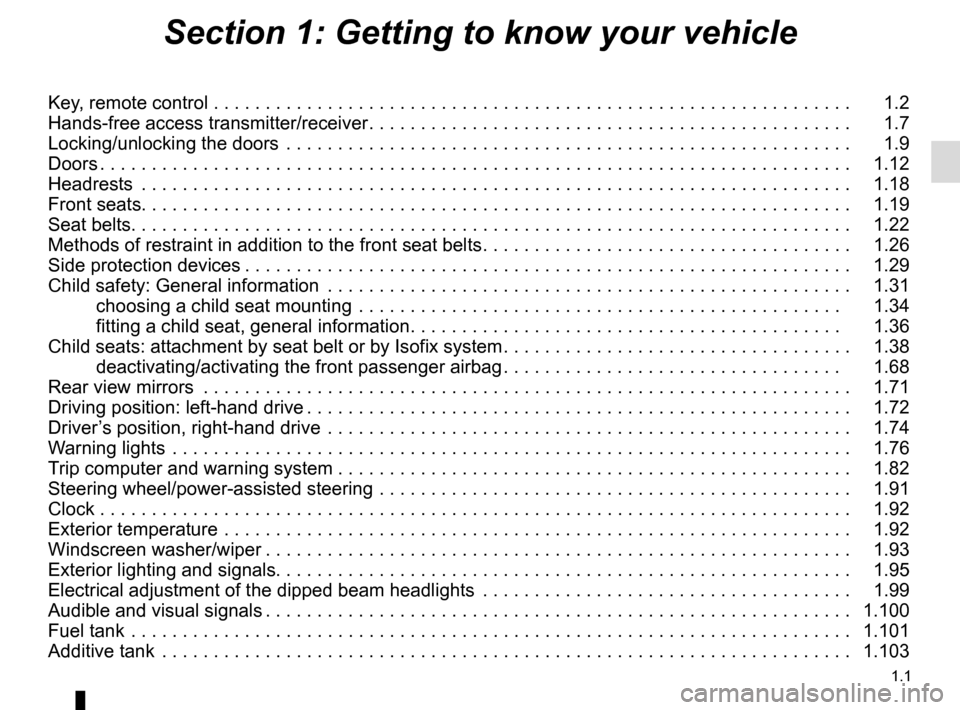 RENAULT MASTER 2017 X62 / 2.G Owners Manual, Page 7