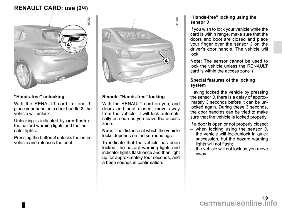 RENAULT MEGANE 2017 4.G Owners Manual, Page 15