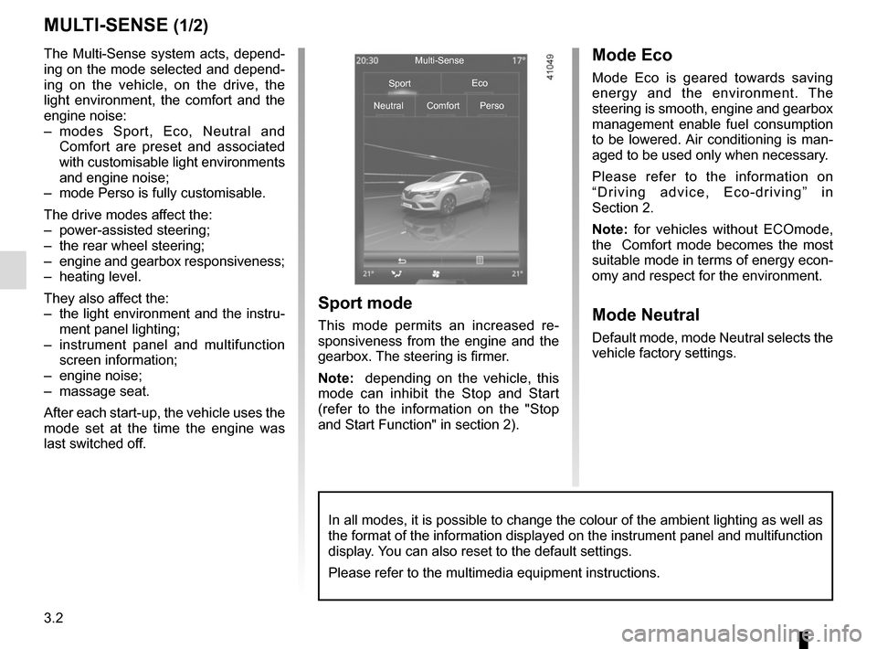 RENAULT MEGANE 2017 4.G Owners Manual, Page 196