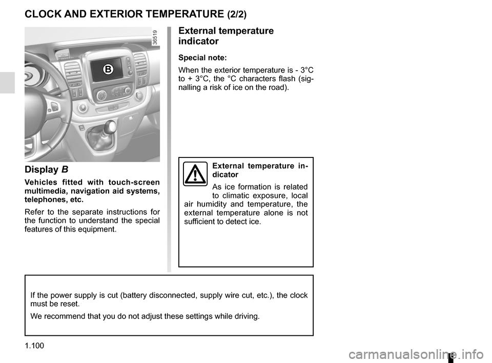 RENAULT TRAFIC 2017 X82 / 3.G Owners Manual, Page 106