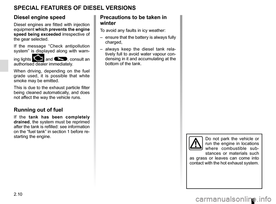 RENAULT TRAFIC 2017 X82 / 3.G Owners Manual, Page 136