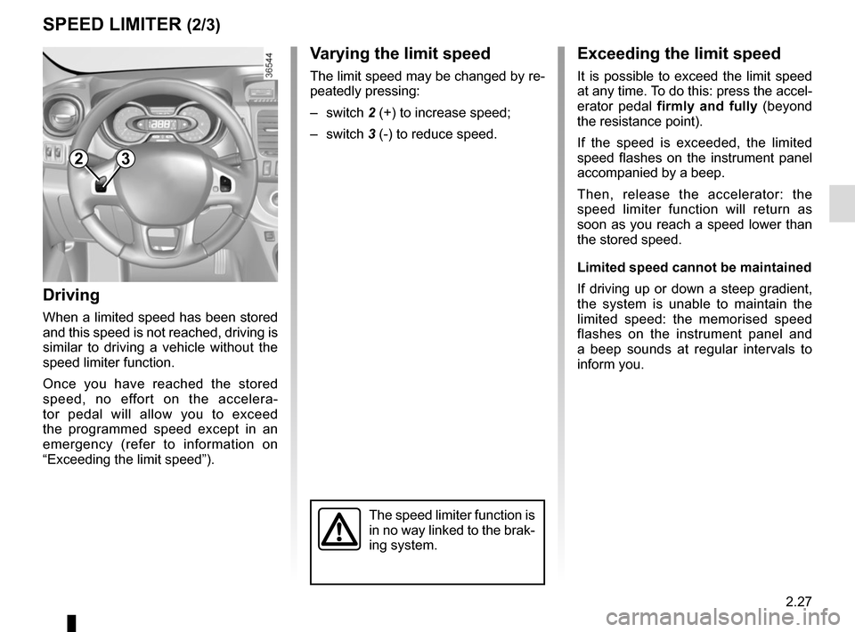 RENAULT TRAFIC 2017 X82 / 3.G Owners Manual, Page 153