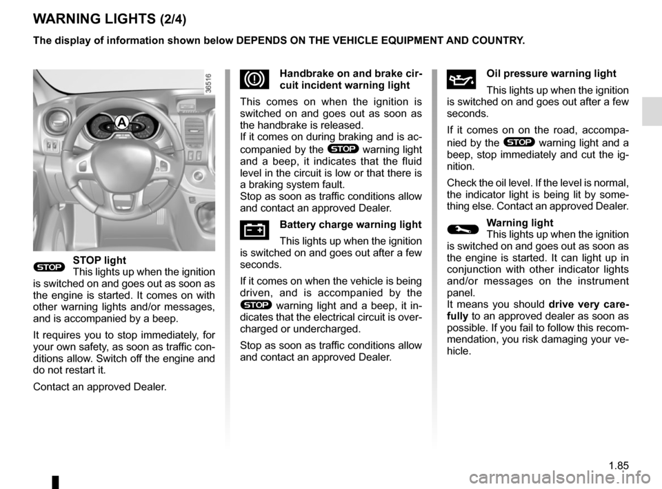 RENAULT TRAFIC 2017 X82 / 3.G Owners Manual, Page 91