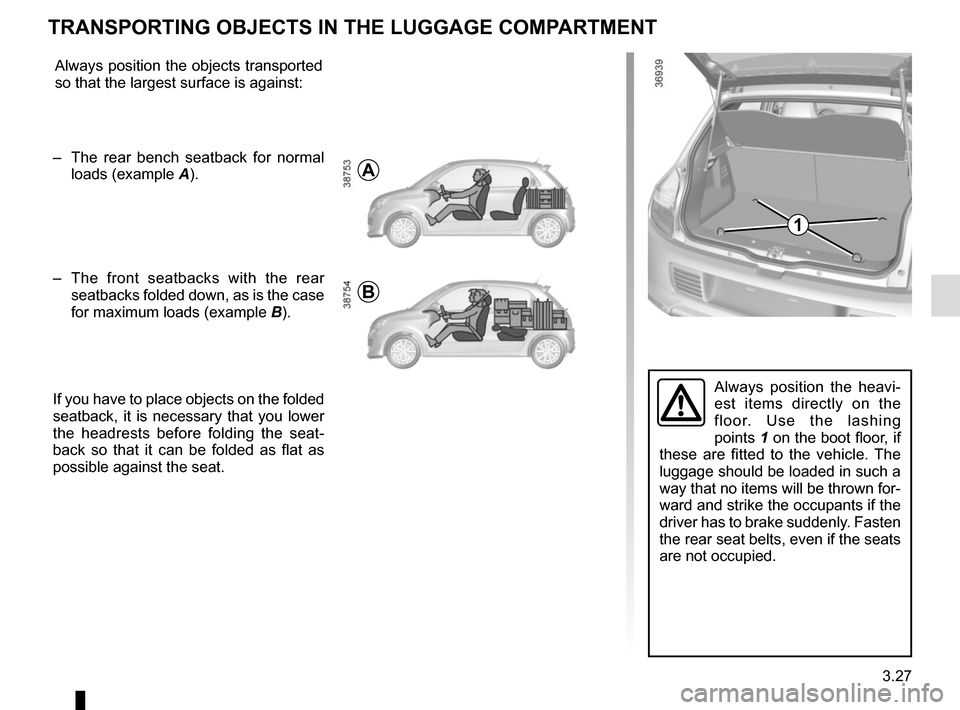 RENAULT TWINGO 2017 3.G Owners Manual, Page 147