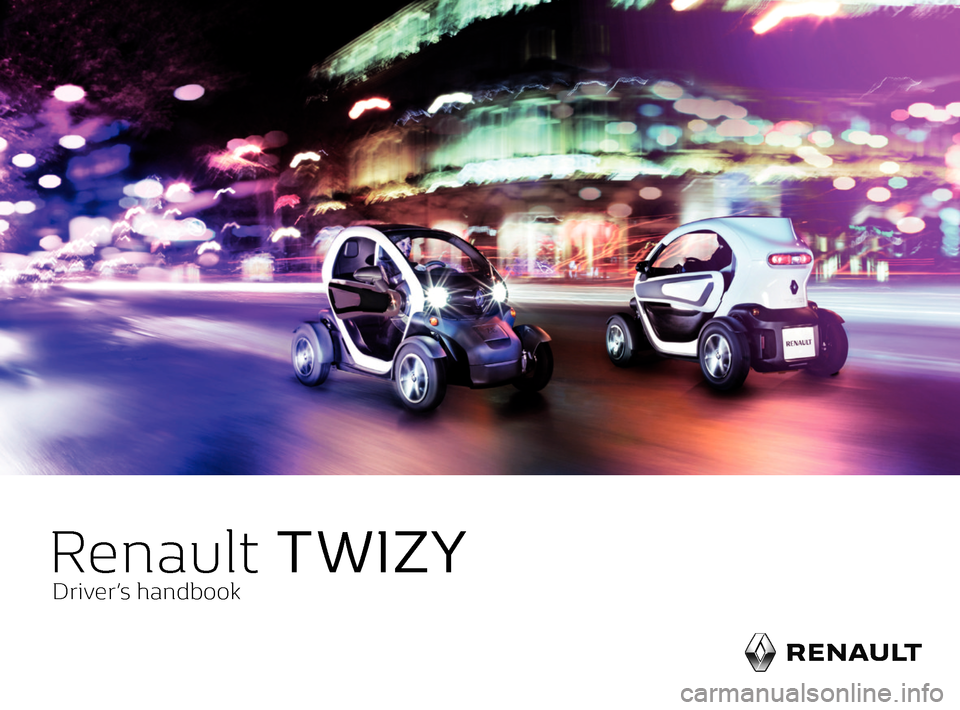 RENAULT TWIZY 2017 1.G Owners Manual, Page 1