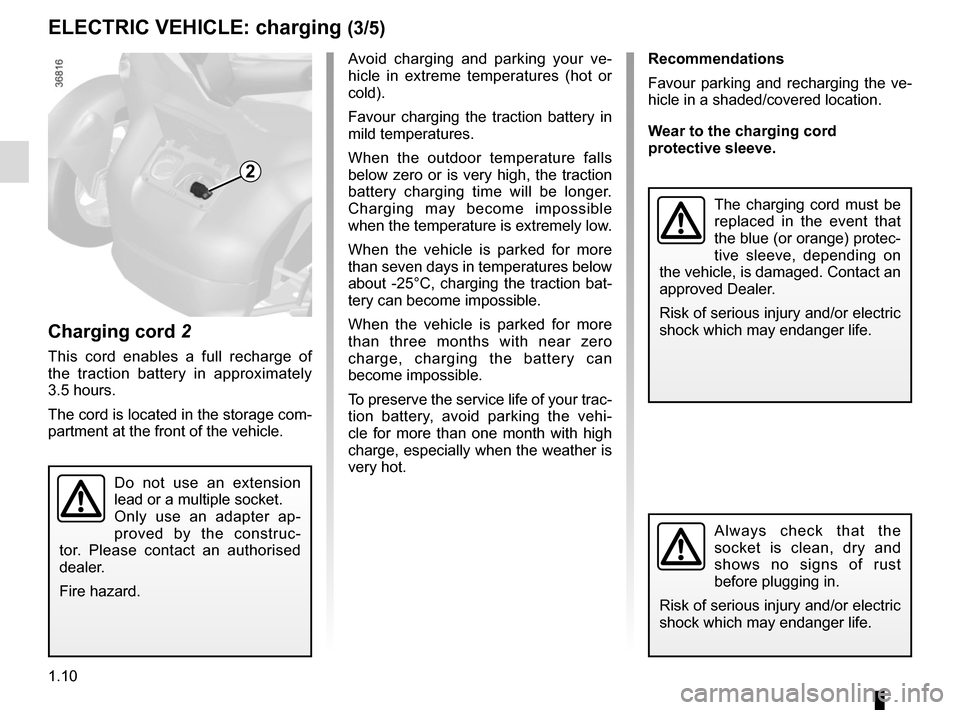 RENAULT TWIZY 2017 1.G Owners Manual, Page 16