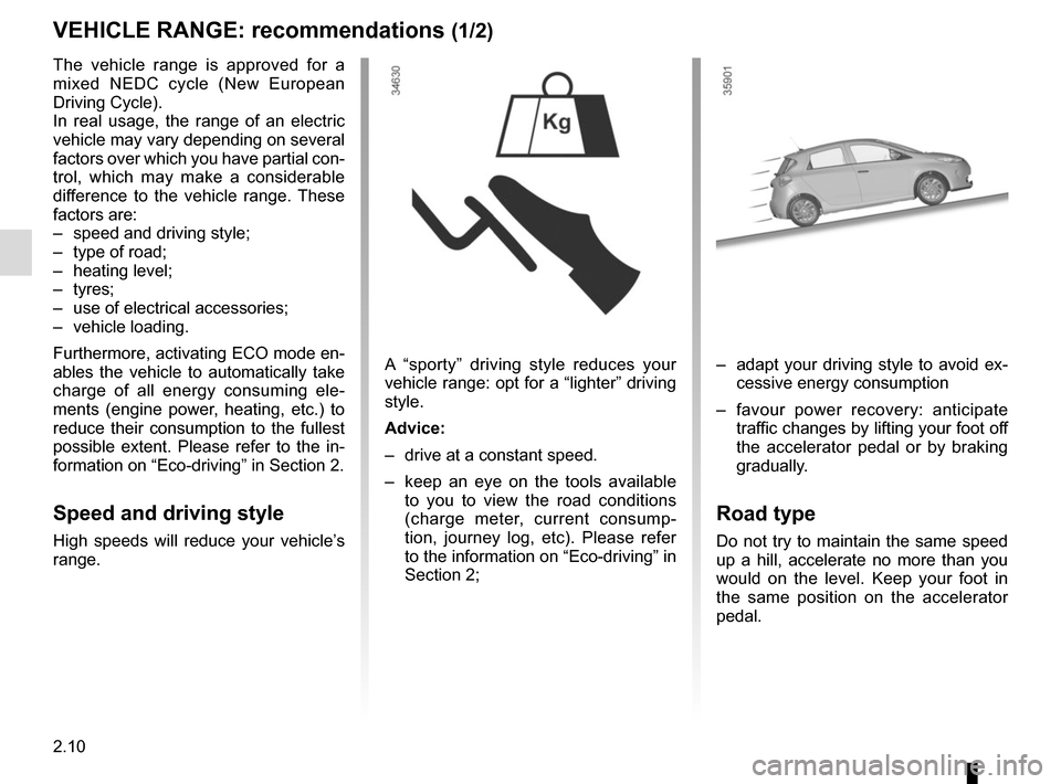 RENAULT ZOE 2017 1.G Owners Manual, Page 104