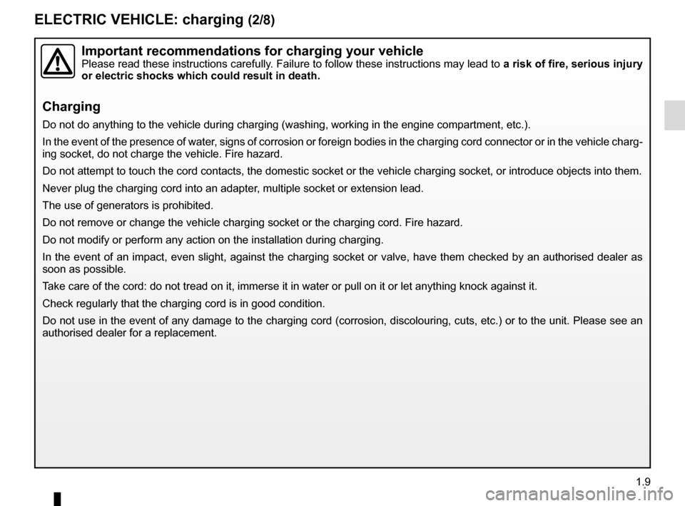 RENAULT ZOE 2017 1.G Owners Manual, Page 15