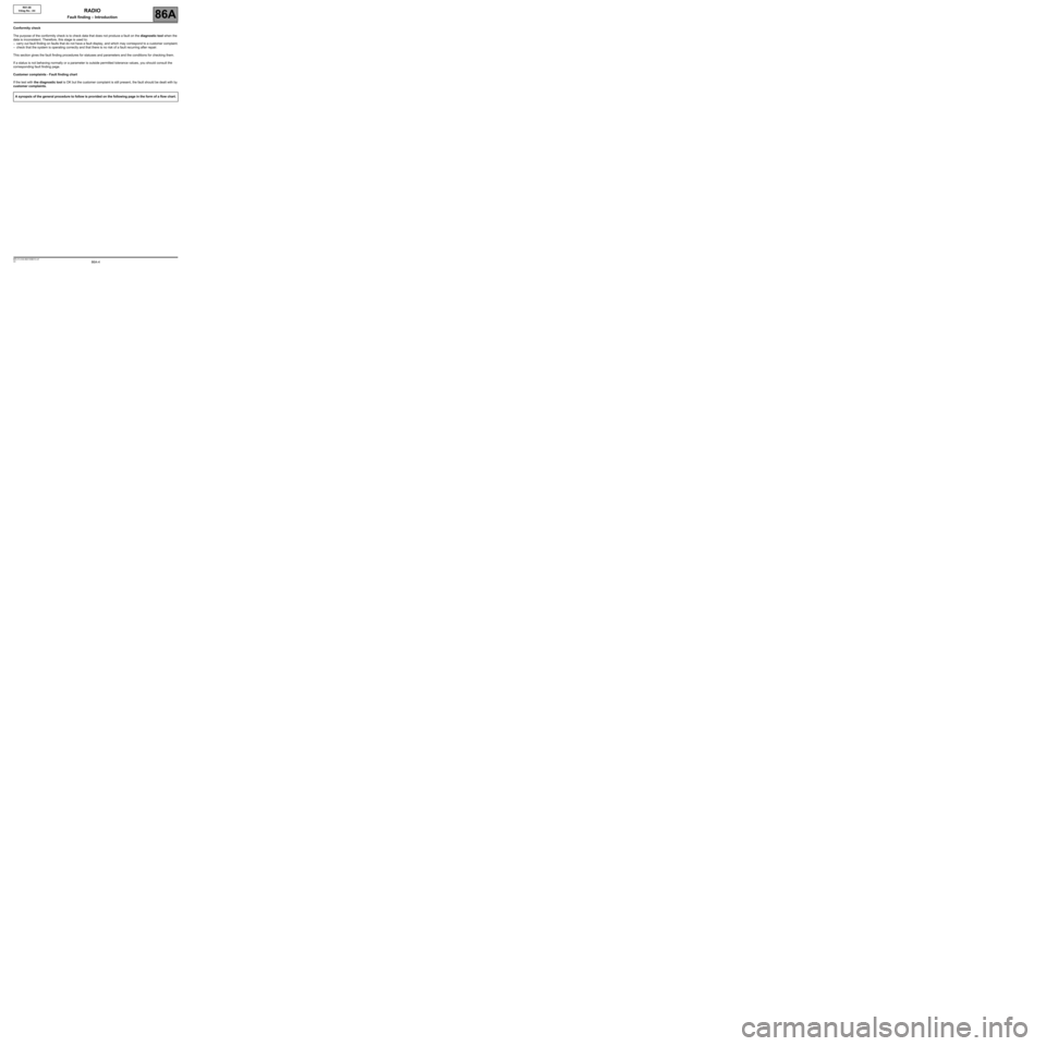 RENAULT TWINGO 2009 2.G Electrical Equipment - Radio R01-08 Workshop Manual, Page 4