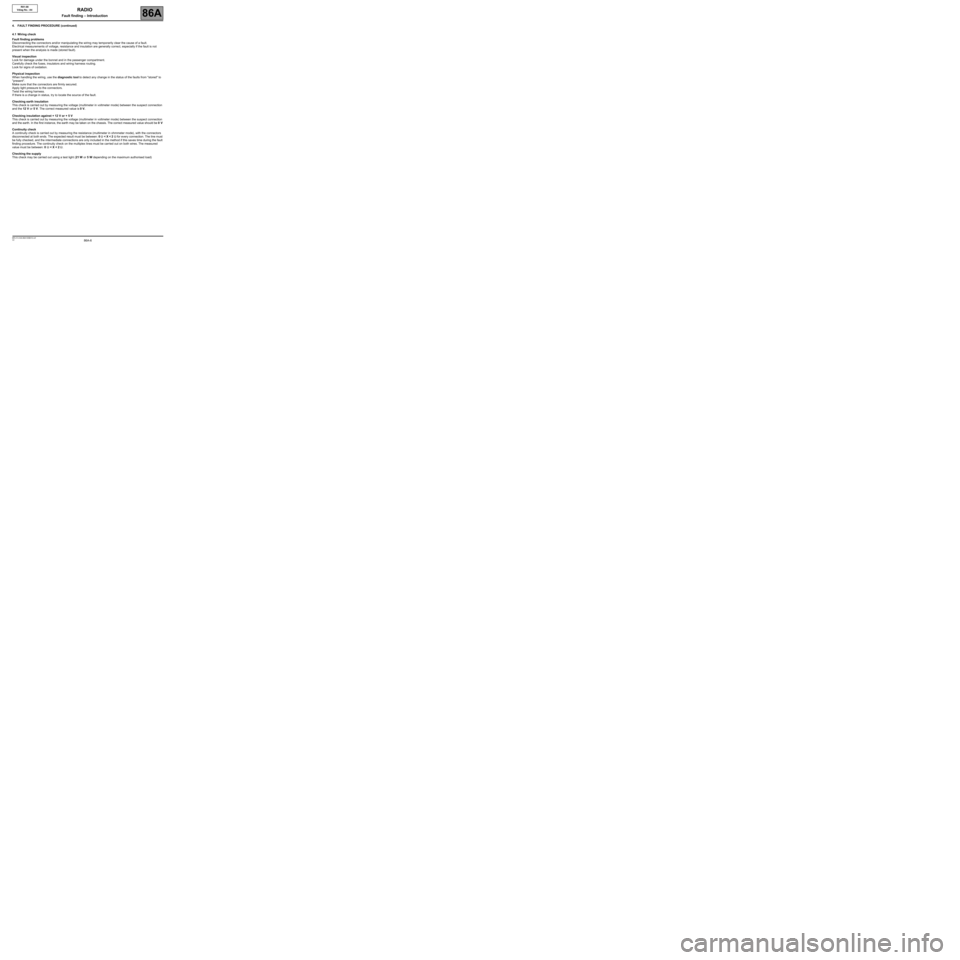 RENAULT TWINGO 2009 2.G Electrical Equipment - Radio R01-08 Workshop Manual, Page 6