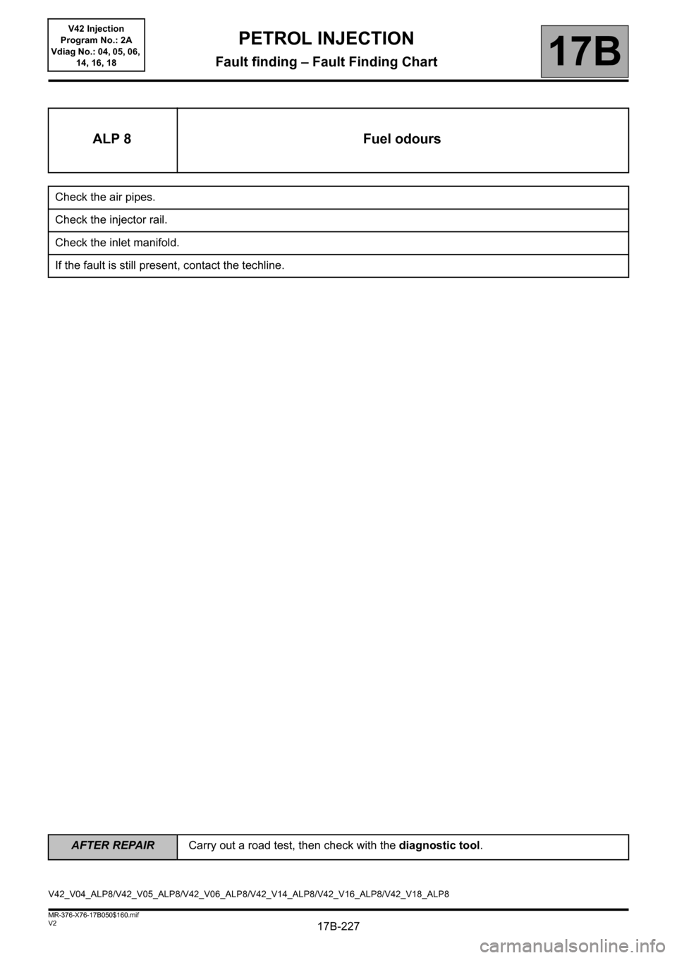 RENAULT KANGOO 2013 X61 / 2.G Petrol V42 Injection Workshop Manual, Page 227