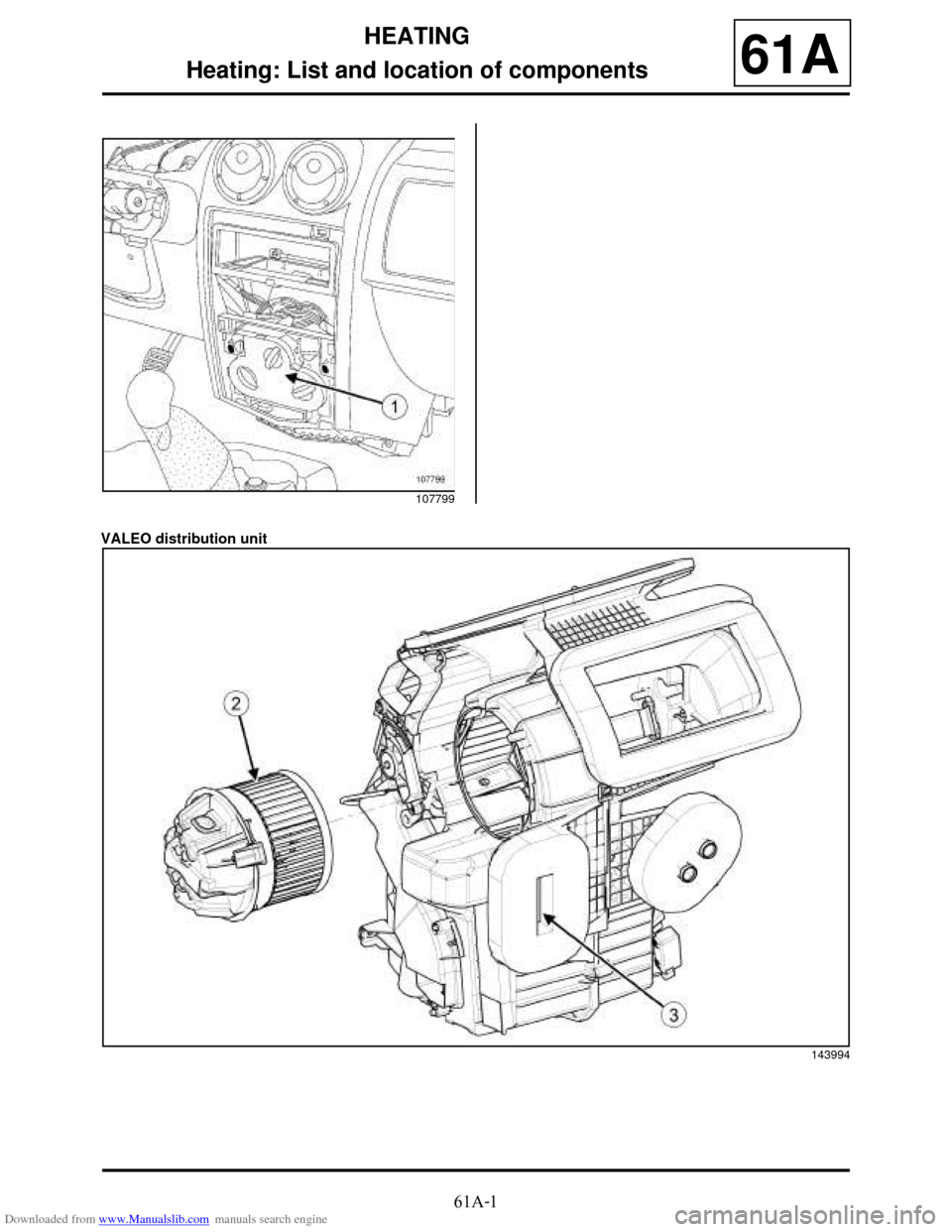 DACIA DUSTER 2009 1.G Heating And Air Conditioning Workshop Manual, Page 3