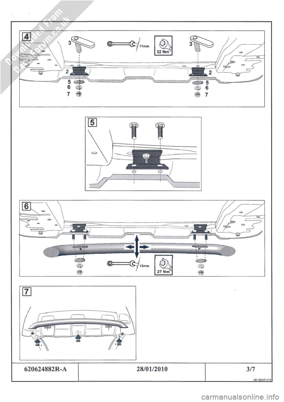 DACIA DUSTER 2010 1.G Front Styling Bar Fitting Guide Workshop Manual, Page 3
