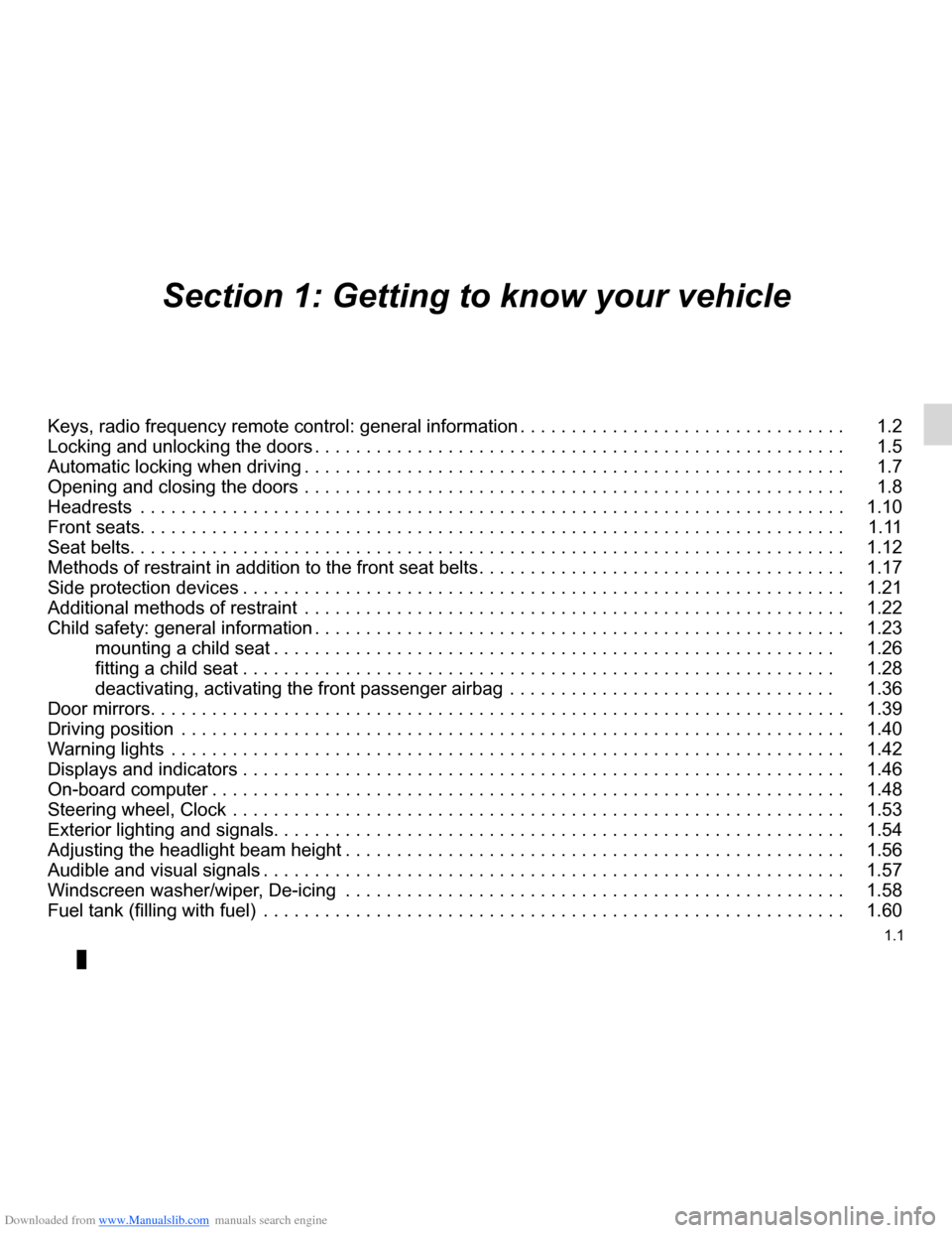 DACIA LODGY 2012 1.G Owners Manual, Page 6