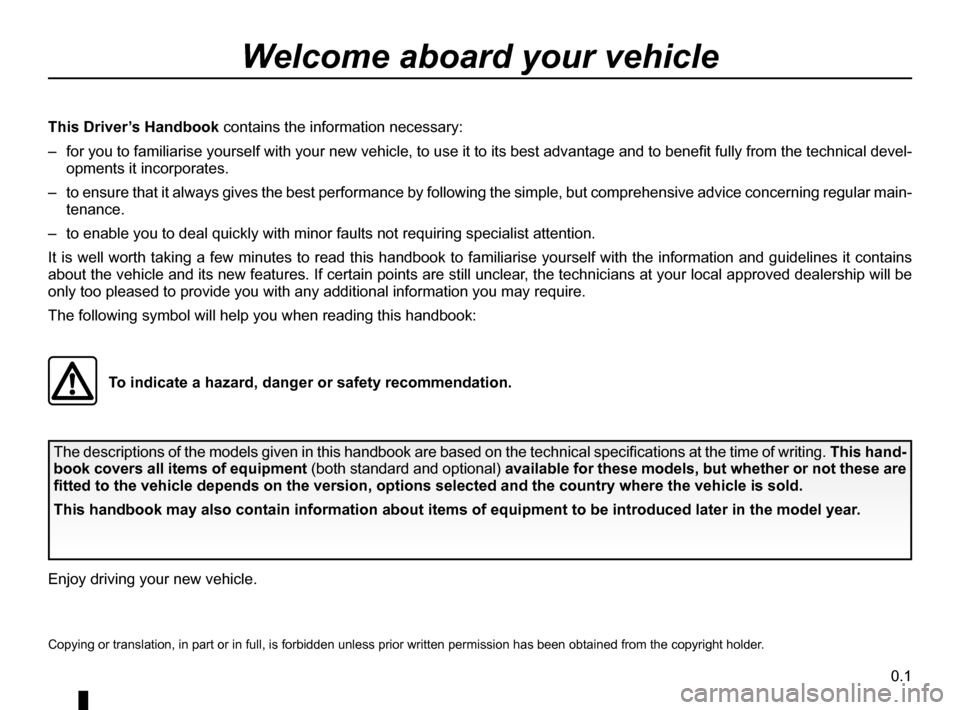 DACIA SANDERO 2013 2.G Owners Manual, Page 1