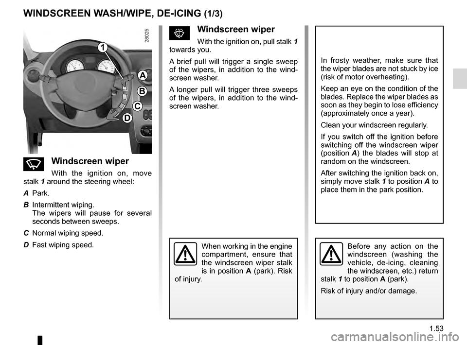wipers dacia sandero stepway 2016 2 g owners manual rh carmanualsonline info dacia sandero stepway instruction manual dacia duster instruction manual