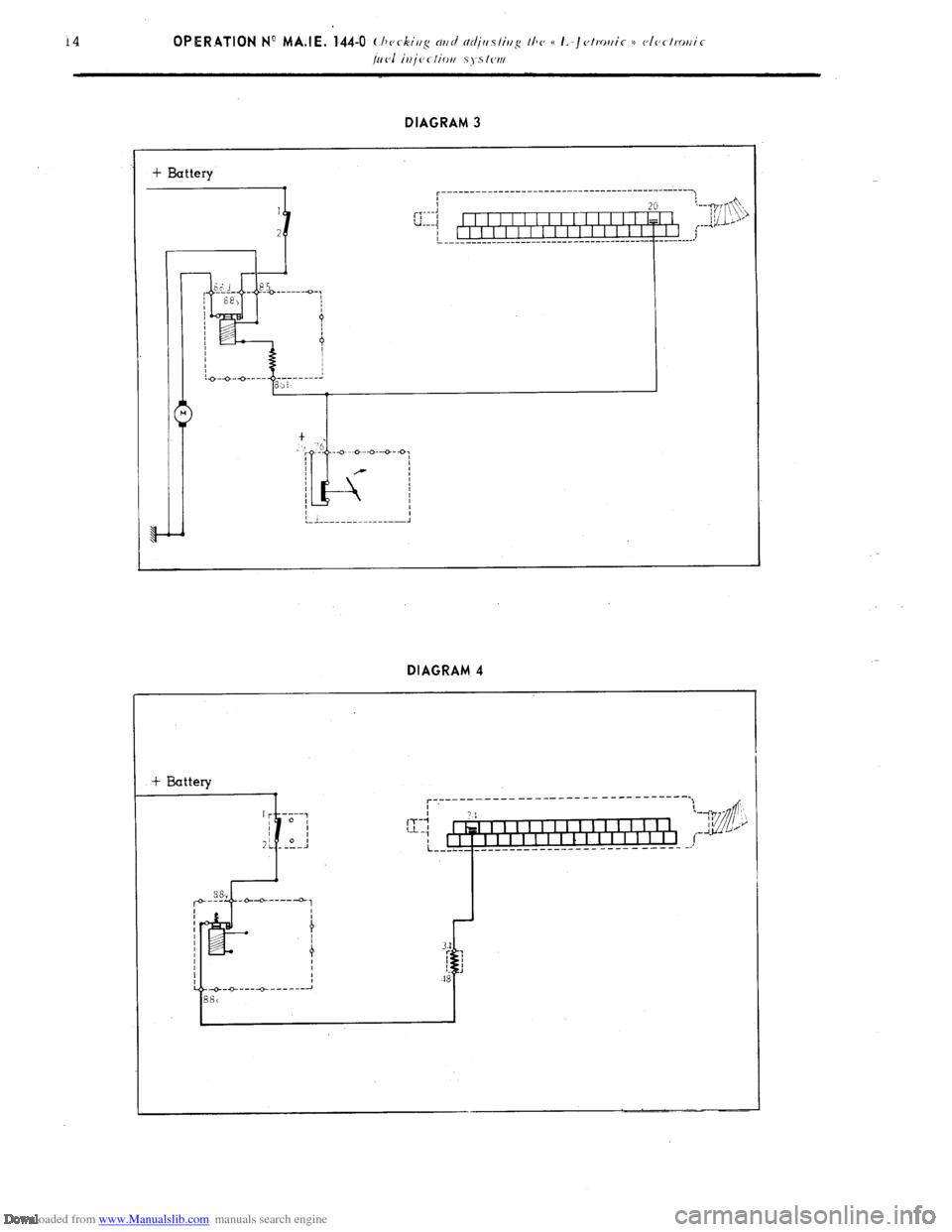 Battery Citroen Cx 1983 1g Workshop Manual Engine Diagram Page 134