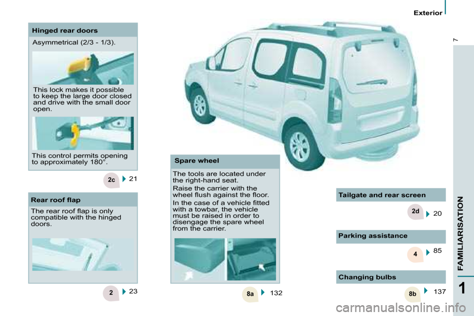 Citroen BERLINGO DAG 2008.5 2.G Owners Manual, Page 3