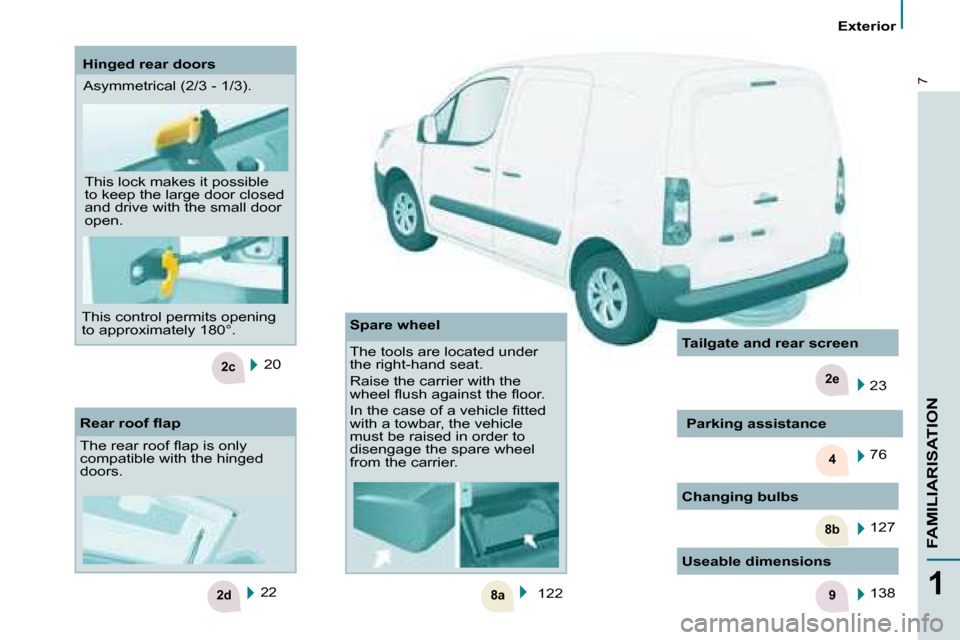 Citroen BERLINGO 2008.5 2.G Owners Manual, Page 3