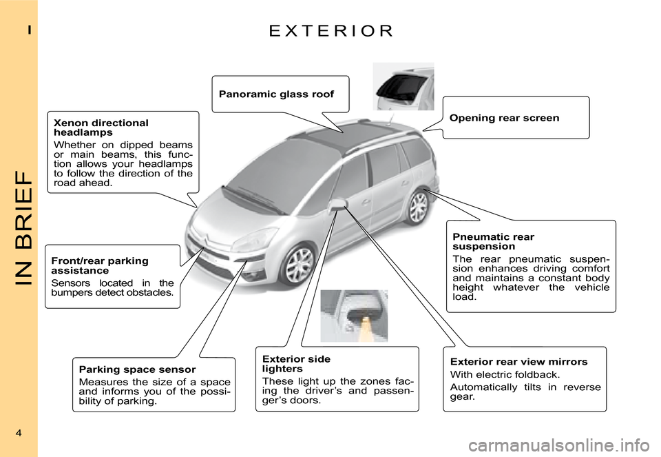 Citroen C4 PICASSO 2008 1.G Owners Manual, Page 1